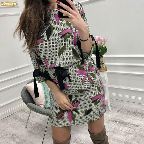 Summer Women Dress O Neck Floral Above Sundress Knee Mini Dresses Girl Sweet Bow Kawaii Dress Beach Boho Designer Clothes