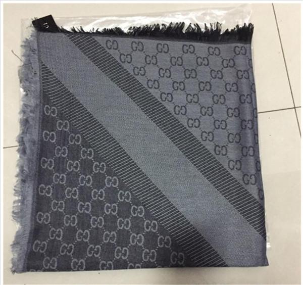 модный дизайнер шарф женский бренд шерстяной и хлопчатобумажной пряжи окрашенные вязаный платок шарф дамы зима теплый мягкий шарф негабаритных 140 * 140c