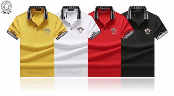 2019 Kurzarm-T-Shirt für Männer Revers Modetrend für Männer High-End gut aussehende atmungsschweißabsorbierend Pullover A1077A2387