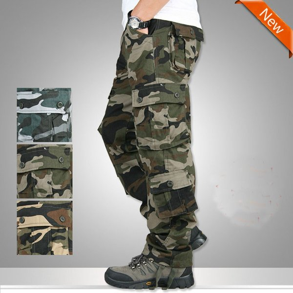 ZOGGA Brand New Multi Pocket Camouflage Pants Men's Trousers Multifunctional Outdoor Casual Sweat Pants Print Mens Joggers