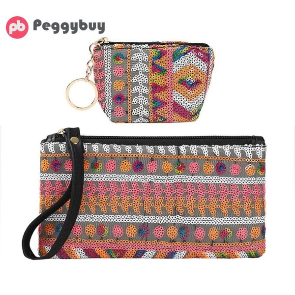 580a875c5968 2019 New Girls Small Casual Simple Boho Printing Coin Purse Women Mini  Wallet Card Holder Female PU Leather Weaving Clutch Large Handbags Red  Purse ...