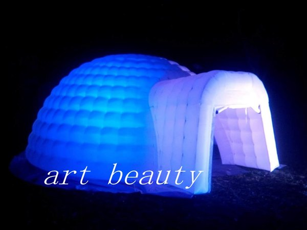 beautiful igloo inflatable dome tent marquee with led light for party wedding event decor