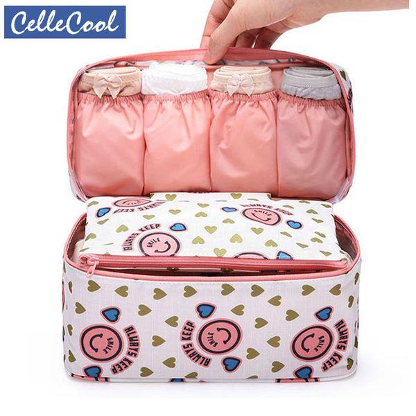 High Quality Makeup Bag Travel Bra Underwear Organizer Bag Cosmetic Daily Supplies Toiletries Storage Bra Bag Case