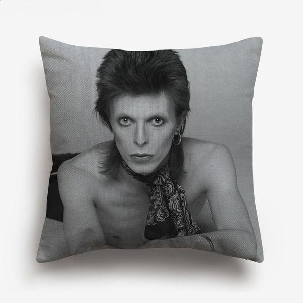 David Bowie Space Cushion Cover European Style Decorative Cushion Covers Beige Linen Pillow Case For Car Sofa Chair