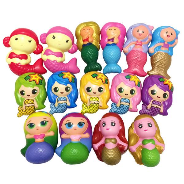 Squishy mermaid domuz yüksek kalite Yavaş Yükselen Yumuşak Boy Telefon Sıkıştırın oyuncaklar Kolye Anti Stres Çocuk Karikatür Oyuncak Dekompresyon Oyuncak