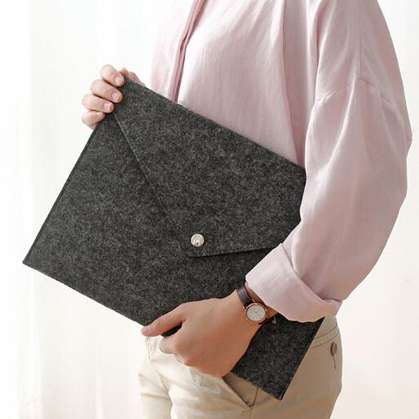 best selling A4 Size Felt Fabric File Bag Office School Stationery Paper Documents Holder Cheap File Pocket Storage Bag