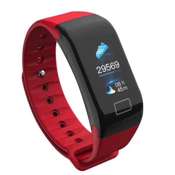 F1 plus Smart Band Color Screen Smart Wristband Blood Pressure Heart Rate Monitor Fitness Tracker PK F1 Smart Bracelet