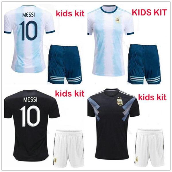 19//20 Blue Home Football Jersey Strips Adult Kids Boy Youth Kit Soccer Club Suit
