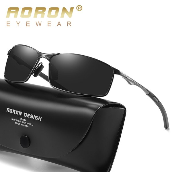 Aoron New Mens Polarized Sunglasses para Deportes, Outdoor Driving Night Vision Sunglasses UV400