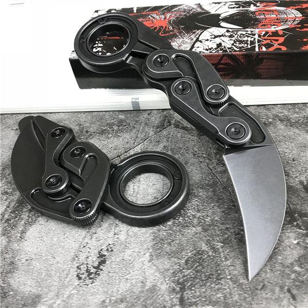 Neue High End Caswell Taktische Messer Karambit M390 Black Stone Wash Klinge Edelstahl Griff EDC Taschenmesser Weihnachtsgeschenk