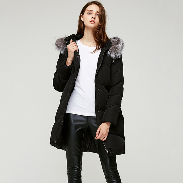 Winter New Pattern Ma'am Black Raccoon parkas duck luxury Down woman Jackets plus size coats for women shiny Fur Collar Free shipping Sale