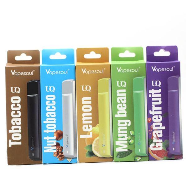 Vapesoul UQ Disposable Pen Dispisable E Cigarettes 380mAh 3.2-4.2V Battery 1.0ml Cartridge Capacity 450 Puffs Vape Pen