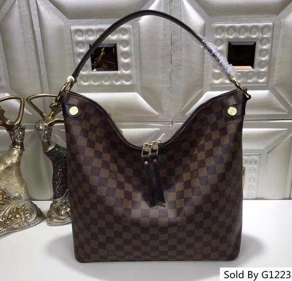 41861 luxury monogram de ign genuine leather tote woman new tyle beautiful bag ize 25 19 10
