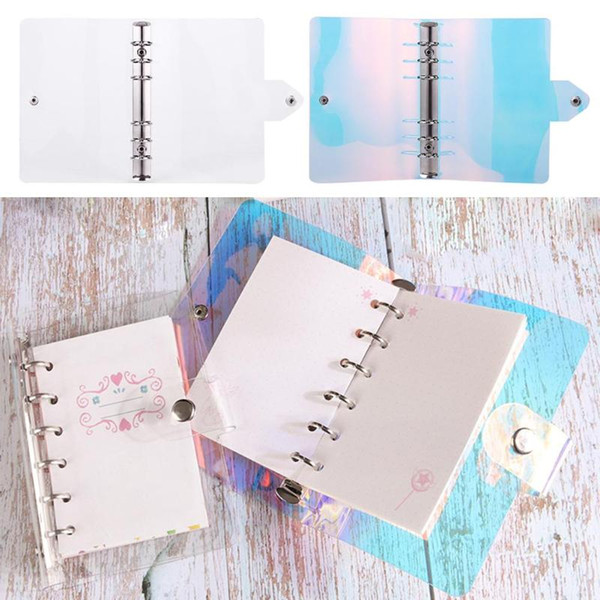 PVC Loose-Leaf Shell Notebook Diary Hand Account Binder School Office Stationery Supplies Writing Note Dropshipping