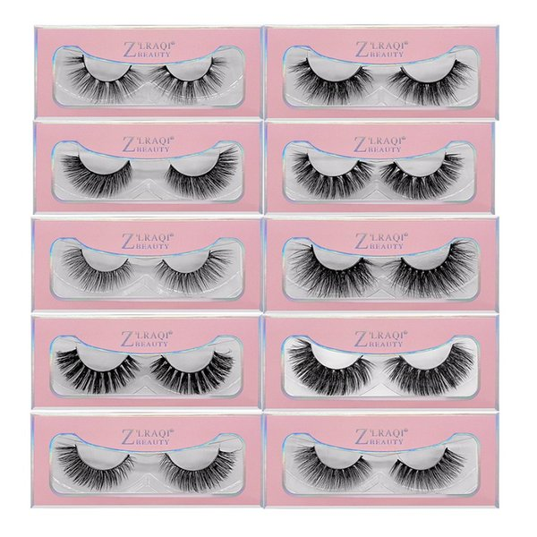 3D Faux Nerz Wimpern Crisscross Thick Wimpern Hand Made Full Strip Wimpern Volume Soft Wimpern Wimpern