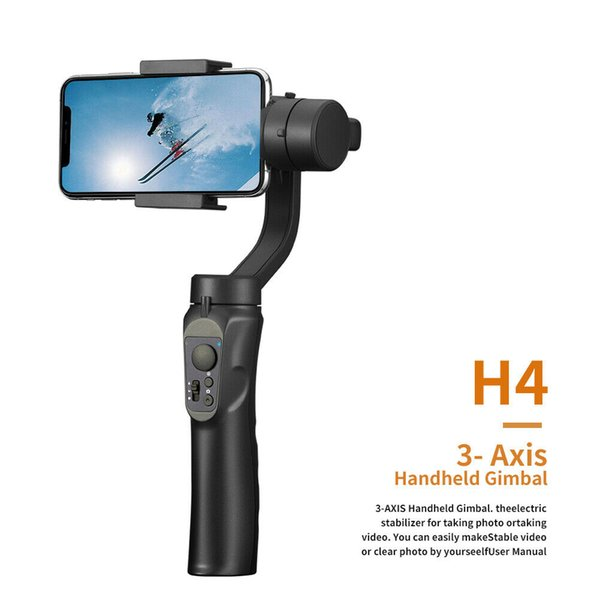 H4 Smooth Handheld Smartphone Gimbal Stalilizer Portable para iPhone Andriod Teléfono móvil M8617 coche