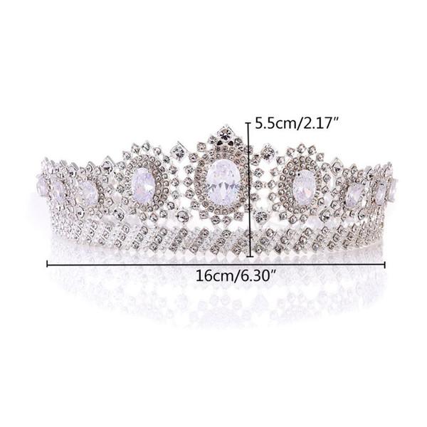 Floral do casamento da noiva Crown nupcial Zircon High End Luxo Exquisite Mulheres Tiara Headband encantos Jóias Decoração Moda Headdr