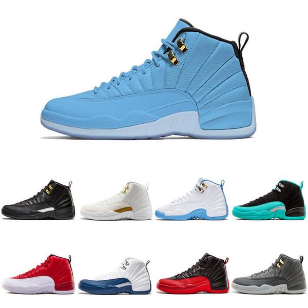Winterized WNTR 12 12s Mens Basketball Shoes Taxi Wings Black Nylon Bulls French Blue men Sport Sneakers 7-13 Wholesale Drop Ship