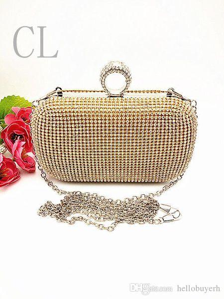 Usine nouvelle marque sacs à main unique soirée de diamant sac à main de mariée / embrayage pour mariage / banquet / fête / porm (plus de couleurs