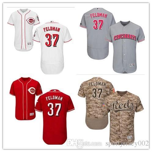43f04c693 Cincinnati 2019 Men s Women s Youth Reds 37 Scott Feldman Majestic Black Alternate  Authentic Flex Base Custom