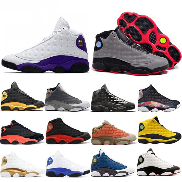 Top Fashion 3M Rivets Réfléchissants 13 13s Chaussures de Basket Noir Infrarouge Terracotta Blush Cap Et Robe Atmosphere Gris Baskets Baskets 7-13