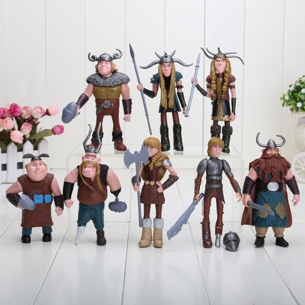8pcs / set 10-13cm How to Train Your Dragon 3 Figuras de Ação PVC Figuras clássico Brinquedos Crianças presente para as crianças T200106