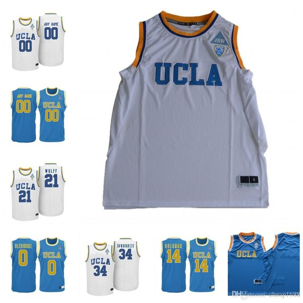 Custom NCAA UCLA Bruins College Basketball 0 Russell Westbrook 2 Lonzo Ball 14 Zach LaVine 42 Kevin Love Stitched Any Name Number Jerseys