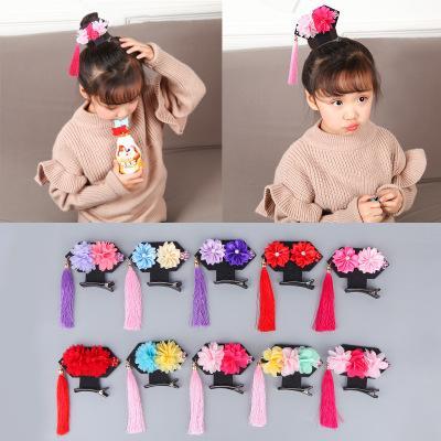 Baby-nette Prinzessinkrone Haarnadeln Haarspangen Kinderzusätze Retro Blumen-Verzierungen Kinderhaarclip Kind Headwear