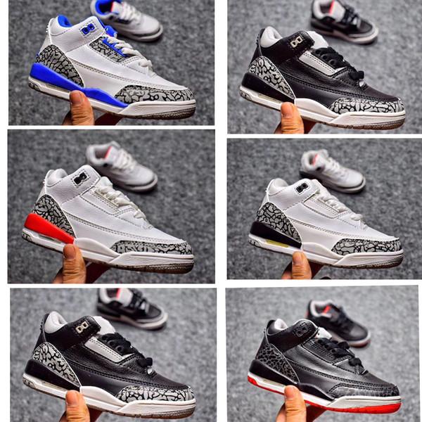Цемент черный белый дети баскетбольная обувь Катрина правда синий спортивные кроссовки мальчик и девочка дети Toldder тренер hococal