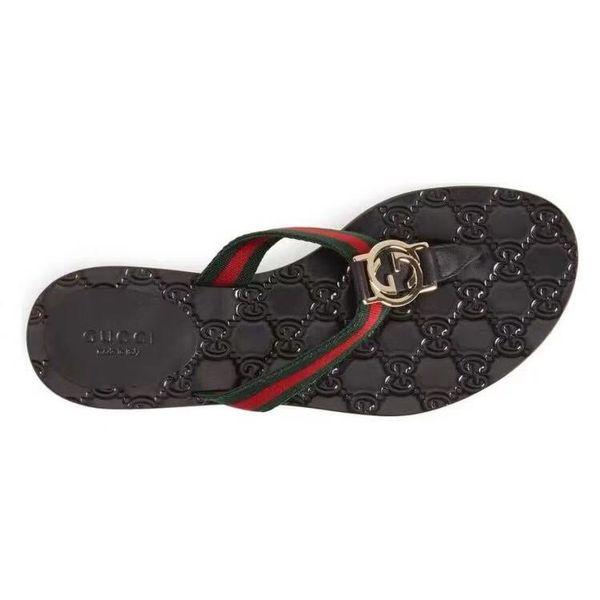 With Box 2018 Slides Summer Luxury Designer Beach Indoor Flat G Sandals Slippers House Flip Flops With Spike sandal