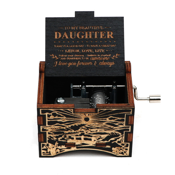 top popular The girl's favorite gift, a beautiful music box. 2021