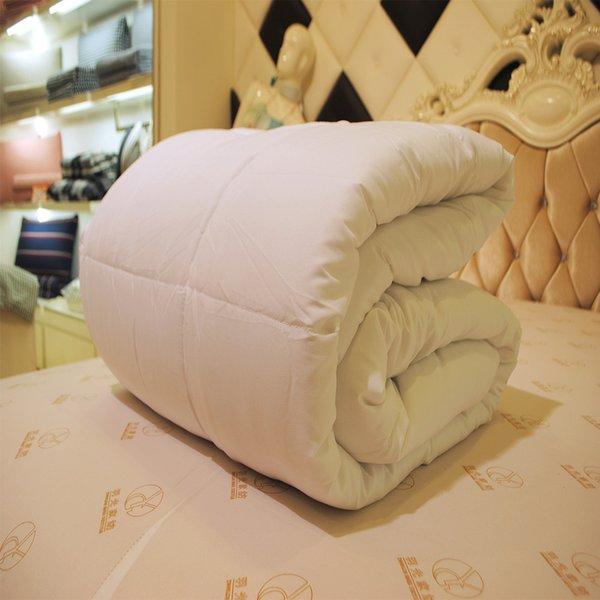 Full / Queen / King Mulberry Literie Couette Ensemble Housse de couette coton hiver / été rose / blanc couverture jetée lit double Taille #XTN