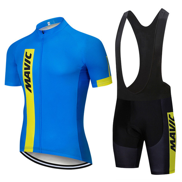 2020 Summer New MAVIC Cycling Jersey Short Sleeve Set Maillot Ropa Ciclismo Uniformes Quick-dry Bike Clothing MTB Cycle Clothes