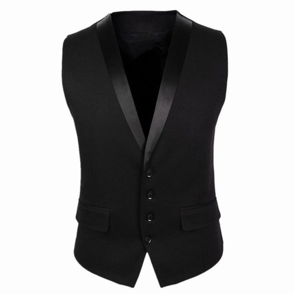 New Groom Vests For Wedding Party Vests Slim Fit Mens Vests Custom Made Plus Size British Style Groom Wear Business Suit