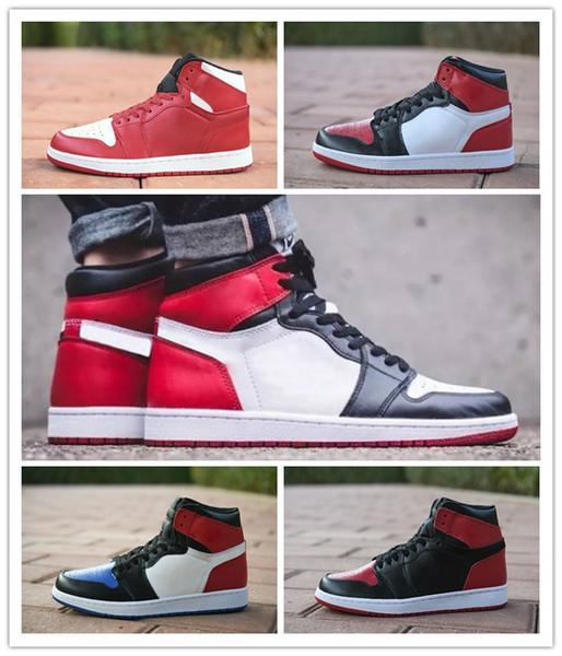 Compre NIKE Air Jordan 1 Retro Zapatos De Baloncesto Bred 1s Bred Toe Shadow 1 Pinnacle 1s Court Purple Chicago High OG GS Triple Negro Envío Gratis