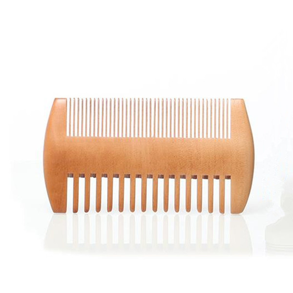 Fine & Coarse Tooth Dual Sided Wood Combs Wooden Hair Scorpion Comb Double Sides Beard Comb for Men F3150