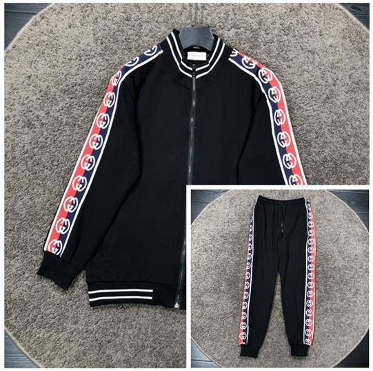 Marca Mens Fatos Stripe Mulheres de luxo Fatos jaqueta casual Kits Marca Fatos Para Mulheres Pants + Jacket Set frete grátis B103587L