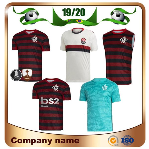 19/20 Flamengo home red black Soccer Jersey 2019 Away GUERRERO DIEGO EDERSON Camisa de futebol MANCUELLO VINICIUS JR 3rd Uniformes de futebol personalizados
