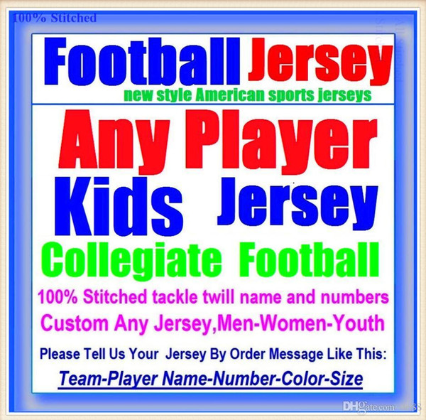 All Stitched Custom american football jerseys Tennessee Denver college authentic cheap baseball basketball hockey jersey 4xl 5xl 8xl france