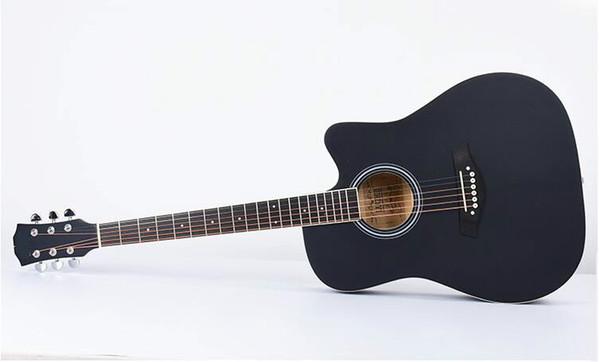 Sola placa de guitarra de 41 pulgadas mate ausente picea Nanyang Mumin guitarra acústica de tono bajo bolsa de piano envío gratis