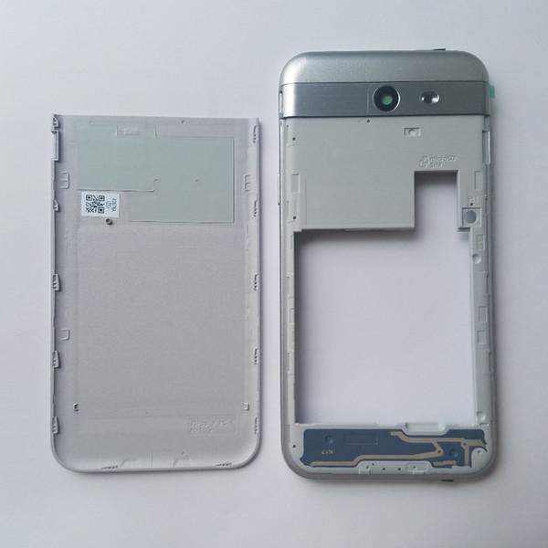 Para Samsung Galaxy J3 Pop J327 J327T J327T1 J327P Cubierta de la cubierta del marco del medio del teléfono móvil original con caja de la puerta de la batería trasera