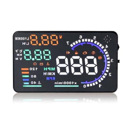 "5.5"" HUD Car Head Up Display LED Windscreen Projector OBD2 Scanner Speed Warning Fuel Consumption Data Diagnostic"