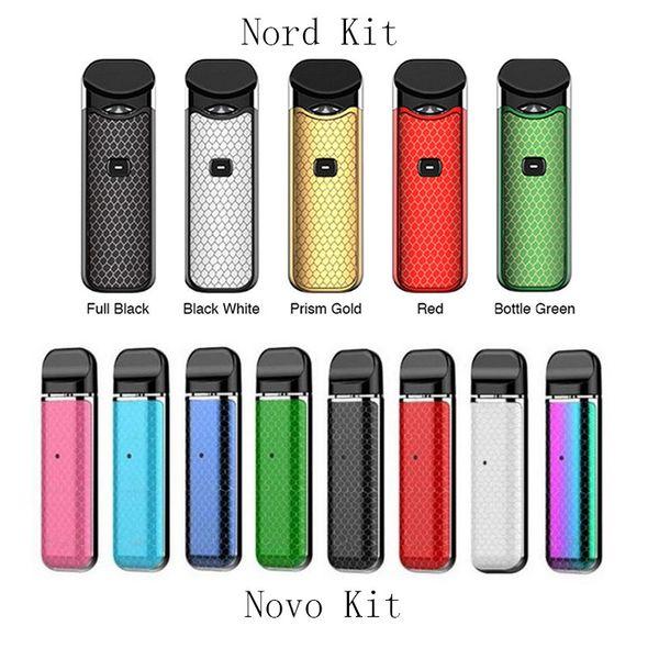 Novo Nord Pod Starter Kit 1100mAh 450mAh Batteria integrata con cartucce vuote Nord Mesh bobina portatile Vape Pen Kit Vs Vmod Imini