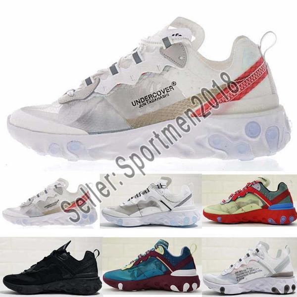 Acheter Nike Air Max React Element 87 Undercover Hommes Chaussures De  Course Pour Femmes Designer Hors Baskets Sports Hommes Formateur Voile  Light ...
