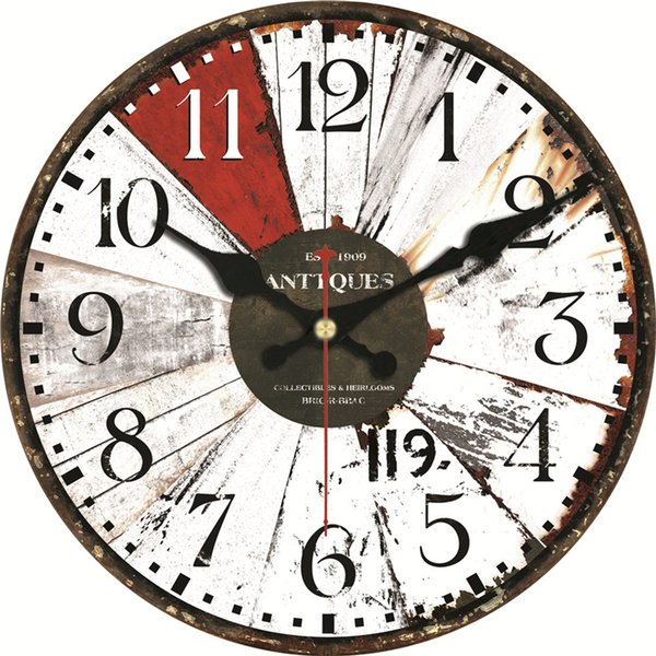 Vintage Wooden Wall Clocks Europe Design Silent Clocks Home Cafe Office  Wall Decor Clocks For Kitchen Wall Art Decoration Metal Wall Clocks Large  ...