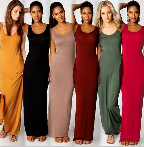 Heißer sommer neue mode grundlegende weste dress elegante dress sexy ärmellose weste tank schlank sling prom dress