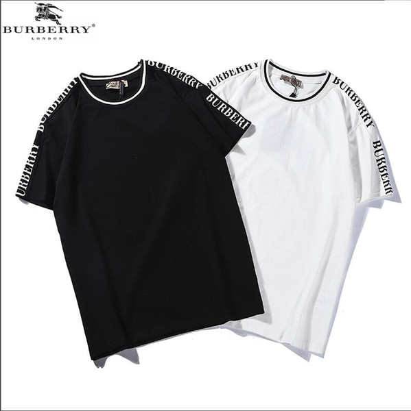 4c395f31b Mens Designer T Shirts Men Clothing Summer Fashion Letters Printed Tee Cool  Short Sleeved Crew Neck Tees Man Women White Black Tops