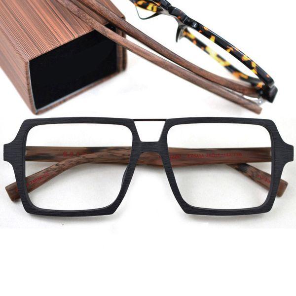 Plaque en bois Lunettes Cadre double poutre rétro monture de lunettes