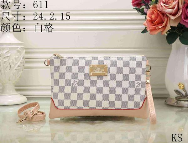 High shoulder bag handbags Clutch Bags new hit color Ling grid Messenger bag simple chain package cross Body bags 40