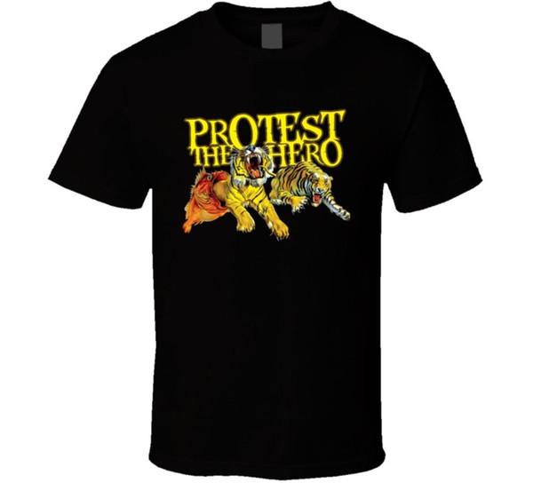 Protest The Hero Art 1 T Shirt Hombres Marca Clothihng Moda de calidad superior para hombre T Shirt 100% algodón